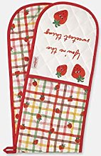 Cath Kidston double oven glove strawberry gingham