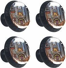 Cathedral 4PCS Round Drawer Knob Pull Handle