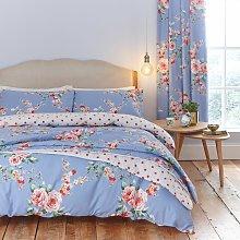 Catherine Lansfield Blue Canterbury Bedding Set -