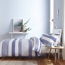 Catherine Lansfield Blue Newquay Stripe Bedding
