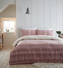 Catherine Lansfield Blush Alpine Fleece Bedding