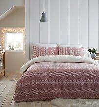 Catherine Lansfield Blush Alpine Fleece Bedding