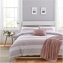 Catherine Lansfield Blush Newquay Stripe Bedding