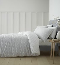 Catherine Lansfield Dotty Cotton Grey Bedding Set