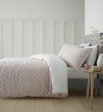 Catherine Lansfield Dotty Cotton Pink Bedding Set