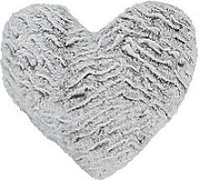 Catherine Lansfield Faux Fur Wolf Heart-Shaped Cushion