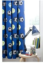 Catherine Lansfield Football Lined Curtains, Blue