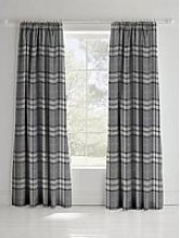 Catherine Lansfield Kelso Check Lined Pencil Pleat