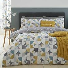 Catherine Lansfield Ochre Retro Circles Bedding