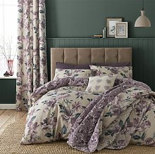 Catherine Lansfield Painted Floral Plum Bedding