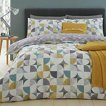 Catherine Lansfield Retro Circles Bedding Set -