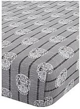 Catherine Lansfield Skulls Fitted Sheet - Double, Grey