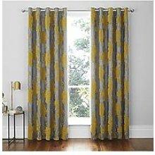 Catherine Lansfield Velvet Rose Eyelet Curtains