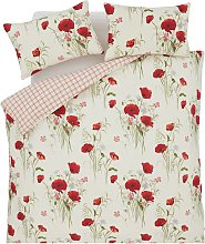 Catherine Lansfield Wild Poppies Bedding Set -
