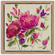 Catherine Stephenson - Linen Floral Framed Canvas