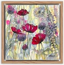 Catherine Stephenson - Poppies Framed Canvas
