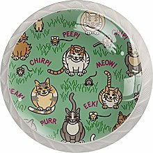 Cats and Critters Pattern Drawer Knobs Pulls
