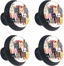 Cats Round Drawer Knob Pull Handle Cupboard Knobs
