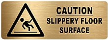 Caution Slippery Floor Surface Sign-WITH