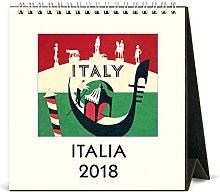 Cavallini Papers & Co 2018 Italia Desk Calendar