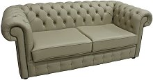 Cavender Genuine Leather 3 Seater Chesterfield