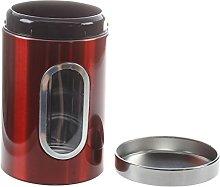 Cavis 3pcs Steel Window Canister Tea Coffee Sugar