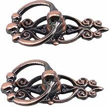 CAVIVI Antique Copper Brass Vintage Round Pull