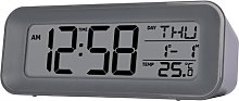 Cayman Radio Controlled Grey Alarm Clock Acctim