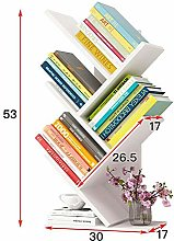 CBRCYGG Tree-shaped small bookshelf, shelf table,