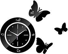 cbvdalodfej Acrylic wall clock safe mirror Quartz