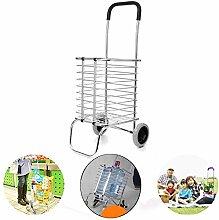 Ccanju Folding Shopping Cart, 2 Wheels Portable