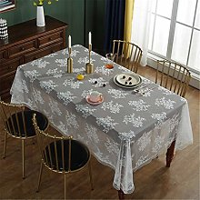 CCBAO Polyester Rectangular Lace White Home