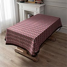 CCBAO Polyester Red Printing Home Tablecloth,