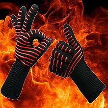 CCCLLL Glove, BBQ silicone insulated gloves Kevlar