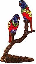 Cclight E14 Parrots Tiffany Style Table lamp,