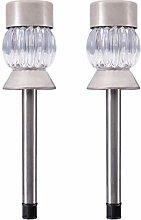 CCLLA 2PCS/Set Colorful LED Ground Plug Light