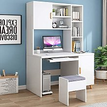 CClz Home Office Desk,Laptop Pc Table With Shelves