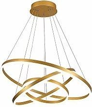 CCSUN Golden Round LED Chandelier,84w 6300-7100lm