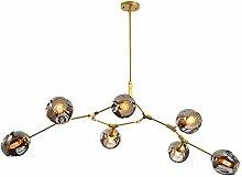 CCSUN Nordic Glass Ball Sputnik Chandelier,