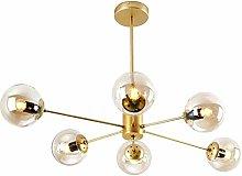 CCSUN Nordic Glass Ball Sputnik Chandelier, Mid