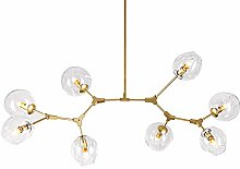 CCSUN Nordic Modern Glass Ball Bubble Chandelier,