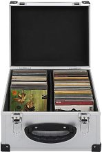 CD Case for 40 CDs Aluminium ABS Silver VD32810 -