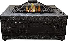 CDFCB Large Retro Fire Pit gray Cast Iron Brazier