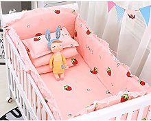 cdhgsh 5 Pieces Cotton Baby Bedding Set Nursery
