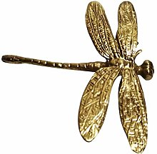 cdhgsh Pure Copper Dragonfly Handles Gold Drawer