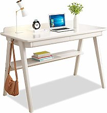 CDTO Solid Wood Office Table With Drawer, Heavy