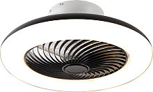 Ceiling fan black incl. LED with remote control -