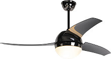 Ceiling fan black with remote control - Bora 52
