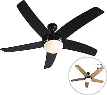 Ceiling fan black with remote control - Cool 52