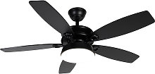 Ceiling fan black with remote control incl. LED -